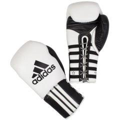 Перчатки боксерские Adidas Super Pro Safety Sparring Lace Quick Pull бело-черные