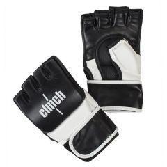 Перчатки для смешанных единоборств Clinch Combat черно-белые