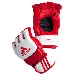 Перчатки для смешанных единоборств Adidas Competition Training красно-белые