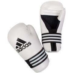 Перчатки полуконтакт Adidas Semi Contact Gloves белые