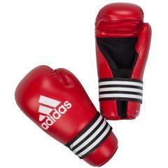 Перчатки полуконтакт Adidas Semi Contact Gloves красные