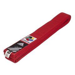 Пояс для карате Adidas Elite WKF красный