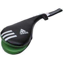 Ракетка для тхэквондо двойная Adidas Kids Double Target Mitt черно-зелено-белая