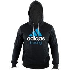 Толстовка с капюшоном (Худи) Adidas Community Hoody Boxing черно-синяя