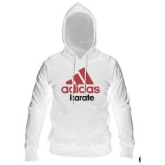 Толстовка с капюшоном (Худи) Adidas Community Hoody Karate бело-красная