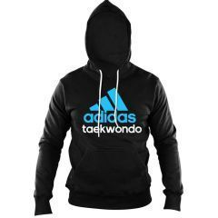Толстовка с капюшоном (Худи) Adidas Community Hoody Taekwondo черно-синяя
