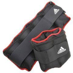 Утяжелители регулируемые от 0.5 до 2.0 кг Adidas Adjustable Ankle/Wrist Weights черно-красные
