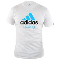 Футболка Adidas Community T-Shirt Boxing бело-синяя