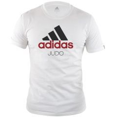 Футболка Adidas Community T-Shirt Judo бело-черная