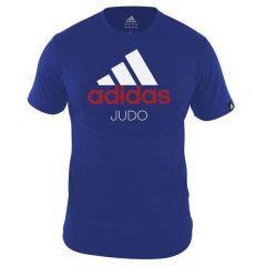 Футболка Adidas Community T-Shirt Judo сине-белая