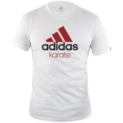 Футболка Adidas Community T-Shirt Karate бело-красная