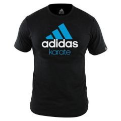 Футболка Adidas Community T-Shirt Karate черно-синяя