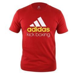 Футболка Adidas Community T-Shirt Kickboxing красно-белая