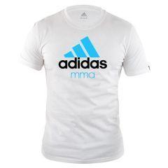Футболка Adidas Community T-Shirt MMA бело-синяя