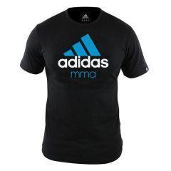 Футболка Adidas Community T-Shirt MMA черно-синяя