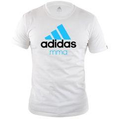 Футболка детская Adidas Community T-Shirt MMA Kids бело-синяя