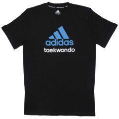 Футболка детская Adidas Community T-Shirt Taekwondo Kids черно-синяя