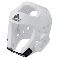 Шлем для тхэквондо Adidas Head Guard Dip Foam WTF белый