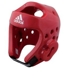 Шлем для тхэквондо Adidas Head Guard Dip Foam WTF красный