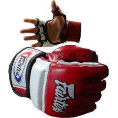 МMA перчатки Fairtex FGV17 red - white