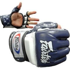 МMA перчатки Fairtex FGV17 navy - white