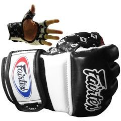 МMA перчатки Fairtex FGV17 white - black