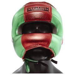 Боксерский шлем с бамперной защитой Ultimatum Gen3FaceBar Mexican Green