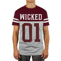 Футболка Wicked One Quarterback gray - red