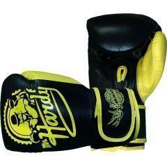 Боксерские перчатки Hardcore Training Mr.Hardy 12 Oz черный/желтый