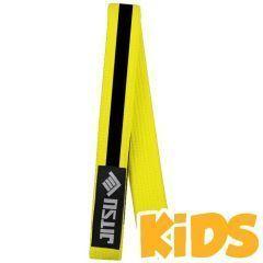 Детский пояс для кимоно Jitsu желтый/черный