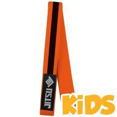 Детский пояс для кимоно Jitsu оранжевый/черный