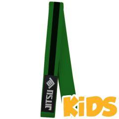 Детский пояс для кимоно Jitsu зеленый/черный
