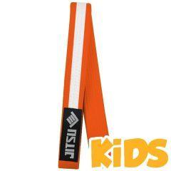 Детский пояс для кимоно Jitsu оранжевый/белый
