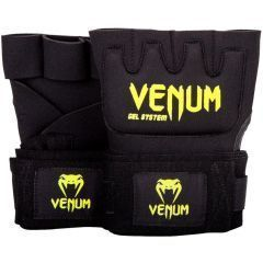 Гелевые боксерские бинты Venum Kontact черный/салатовый