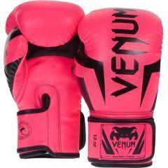 Боксерские перчатки Venum Elite - розовый/черный