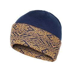 Двухсторонняя шапка Варгградъ Горизонты Времен - тёмно-синий/желтый