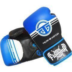 Боксерские перчатки Flamma Terminator - синий/белый