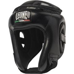 Боксерский шлем Leone Сarbon - черный