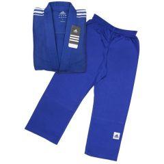 Кимоно для дзюдо подростковое Adidas Training синее