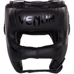 Бамперный боксерский шлем Venum Elite Iron Headgear - черный
