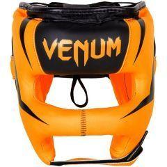 Бамперный боксерский шлем Venum Elite Iron Headgear - оранжевый/черный
