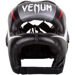 Бамперный боксерский шлем Venum Elite Iron Headgear - черный/серый