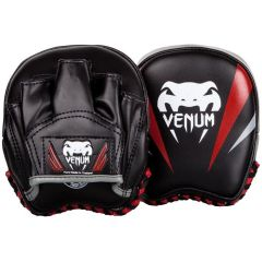 Тренерские боксерские лапы Venum Elite Mini Punch Mitts - черный/серый