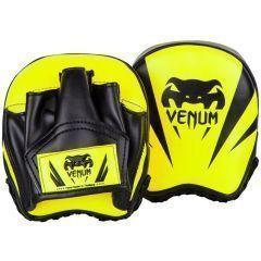 Тренерские боксерские лапы Venum Elite Mini Punch Mitts - салатовый/черный