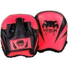Тренерские боксерские лапы Venum Elite Mini Punch Mitts - розовый/черный