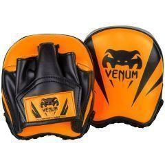 Тренерские боксерские лапы Venum Elite Mini Punch Mitts - оранжевый/черный
