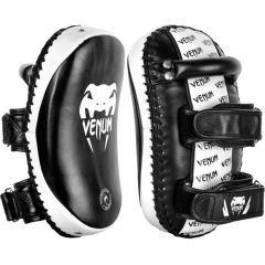 Тайпэды Venum Kick Pads Leather - черный/белый