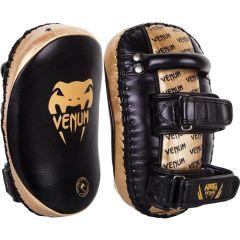 Тайпэды Venum Kick Pads Leather - черный/золото