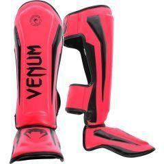 Защита голени и стопы (шингарды) Venum Elite - розовый/черный
