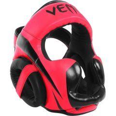 Боксерский шлем Venum Elite black - розовый/черный